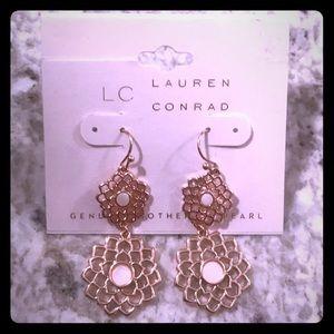 NWT Lauren Conrad Mother of Pearl Earrings